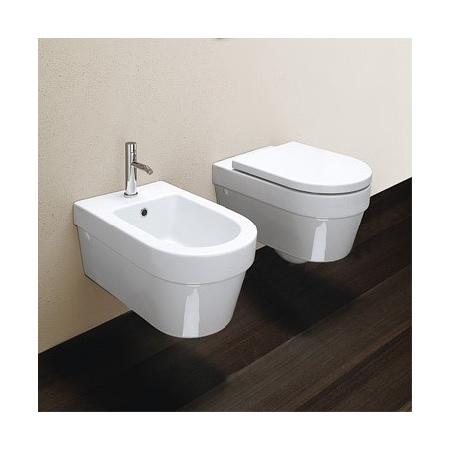 Catalano Zero Miska WC wisząca + deska, 55x35 cm biała VS55+SCSTF