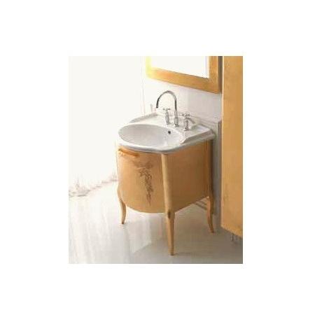 Globo Paestum Szafka stojąca z umywalką 66x58 cm, złota PA0066X