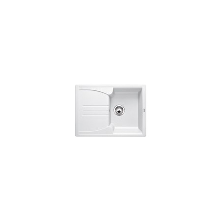 Blanco Enos 40 S Zlewozmywak granitowy Silgranit PuraDur jednokomorowy 68x50 cm z ociekaczem, biały 513801