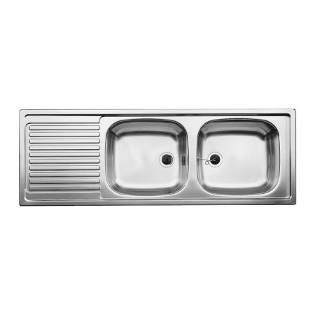 Blanco Top EZS 12 x 4-2 Zlewozmywak stalowy dwukomorowy 123,5x43,5 cmbez korka automatycznego stalowy mat 500374