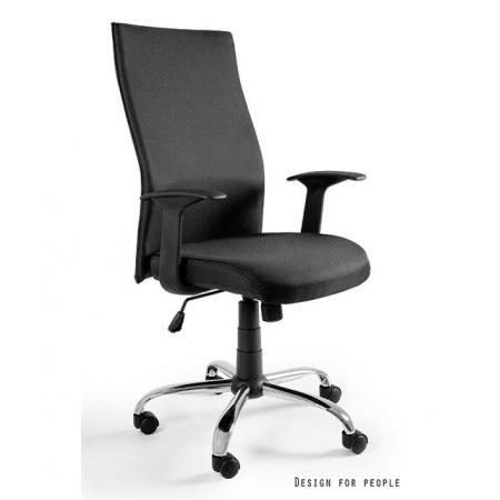 Unique Black on Black Fotel biurowy, czarny W-93A-4