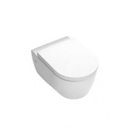 Hatria Fusion Miska WC wisząca z deską zwykłą, biała Y0XB