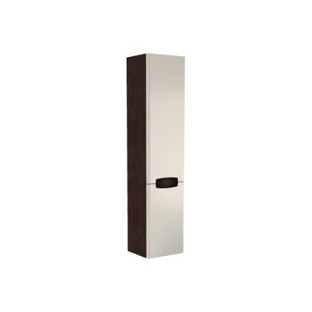 Koło szafka wisząca boczna REKORD, wysoka, biały połysk/wenge, SIMPLE Biały/Wenge (88394)