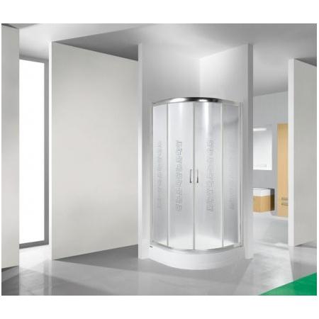 Sanplast TX KP4/TX4 Kabina prysznicowa narożna - 90/90/185 srebrny błyszczący Sitodruk W14 600-270-0060-38-220