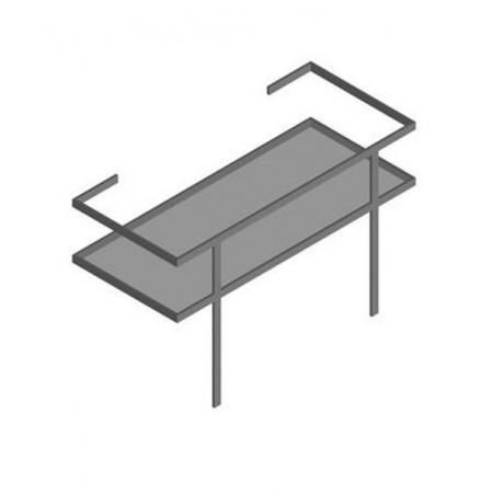 Hatria Daytime Reling podumywalkowy z półką 48x109 cm, stalowy Y0PF