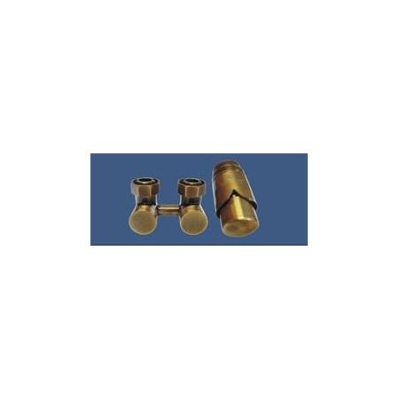 Schlosser Exclusive zestaw armatury 3/4xM22x1,5 prosty antyczny mosiądz 601000043