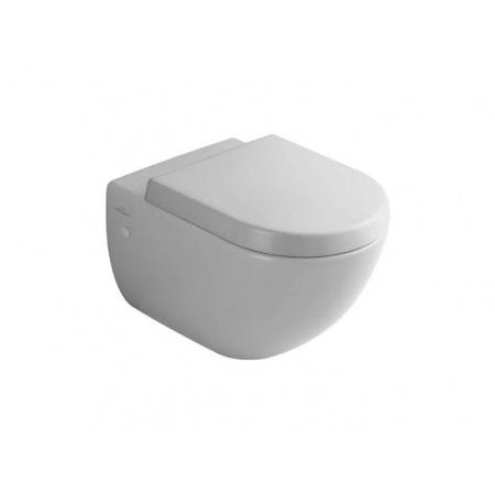 Villeroy & Boch Subway ZestawToaleta WC podwieszana 37x56 cm lejowa z deską sedesową wolnoopadającą, biała 66001001+9M55S101