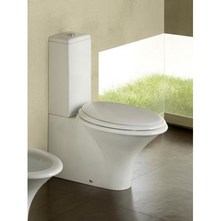 Hatria Sculture Toaleta WC kompaktowa + deska zwykła + spłuczka biała YXZ4+Y015