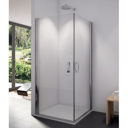 Ronal Swing-Line Kabina prysznicowa narożna, część 1/2,mocowanie prawe 70x195 cm, profile białe, szkło cieniowane niebieskie SLE1D07000454