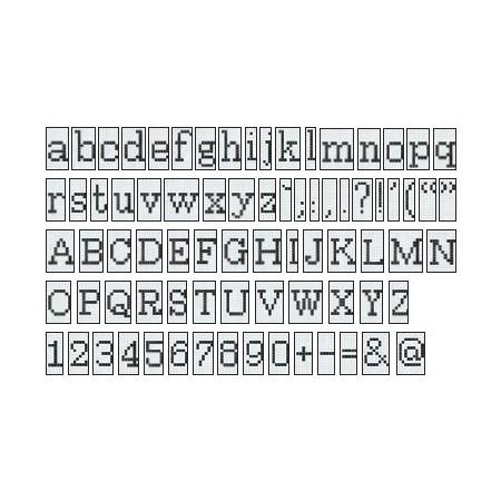 BISAZZA Alfabeto Positivo mozaika szklana biała/szara (BIMSZAPO)