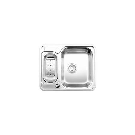 Blanco Lantos 6-IF Zlewozmywak stalowy półtorakomorowy 59,3x48,8 cm z odsączarką i korkiem automatycznym stal szczotkowana 516676