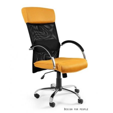 Unique Overcross Fotel biurowy, żółty W-62-10