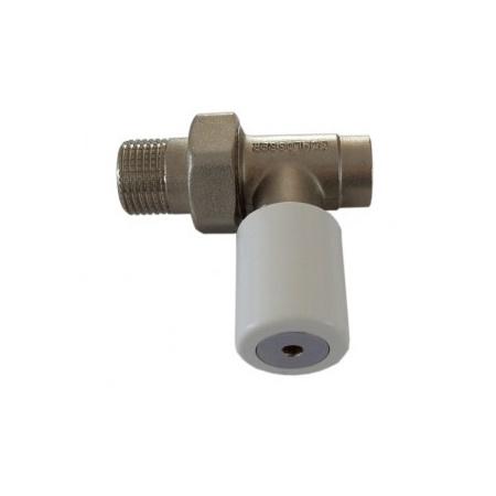 Schlosser DN15 zawór grzejnikowy z pokrętłem gładkim 1/2x15mm prosty do wlutowania 6014 00014