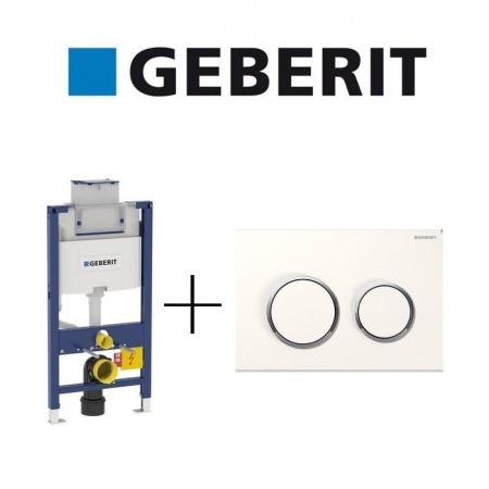Geberit Zestaw Duofix Element montażowy do WC Omega H98 + Omega 20 Przycisk uruchamiający, 111.030.00.1 + 115.085.KJ.1