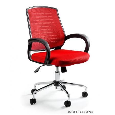 Unique Award Fotel biurowy, czerwony W-120-2