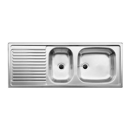 Blanco Top EZS 11 x 4 Zlewozmywak stalowy półtorakomorowy 110x43,5 cm bez korka automatycznego stalowy mat 500847