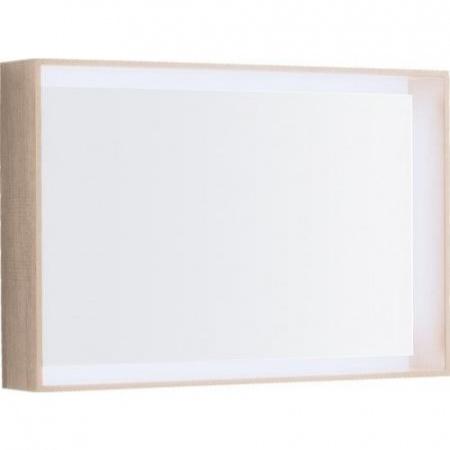 Keramag Citterio Lustro prostokątne 88,4x58,4x14 cm z oświetleniem LED, dąb jasny 835690000
