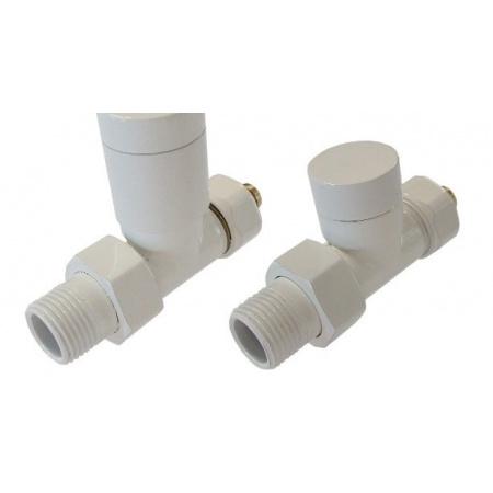 Schlosser zestaw zaworów grzejnikowych biały wersja prosta biały (604200022)