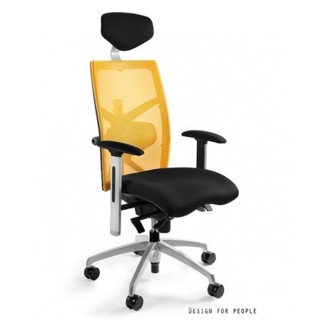 Unique Exact Fotel biurowy, żółty W-099Y-BL418-10