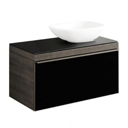 Keramag Citterio Szafka podumywalkowa wisząca 88,4x54,3x50,4 cm, dąb czarny/szkło czarne 835291000