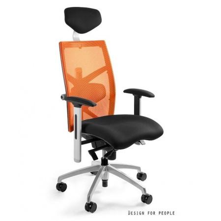 Unique Exact Fotel biurowy, pomarańczowy W-099Y-BL418-5