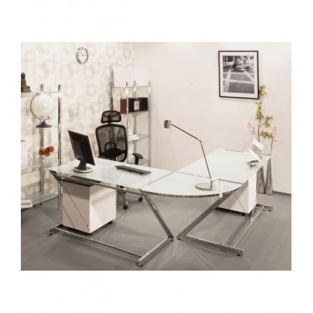 Unique Z-Line Computer Desk Biurko 122x76 cm, białe 816-02-W-C