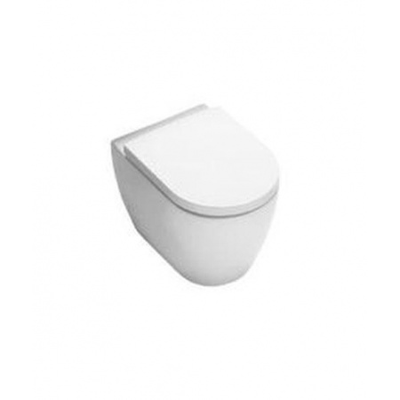 Hatria Fusion Miska WC stojąca z deską zwykłą, biała Y0U7