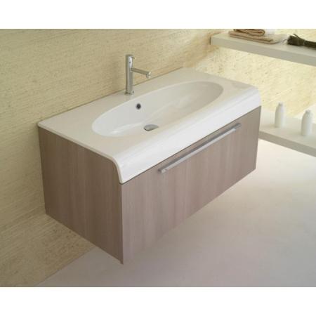 Globo Bowl Szafka wisząca z umywalką 100x50x42cm, biała BPM1X