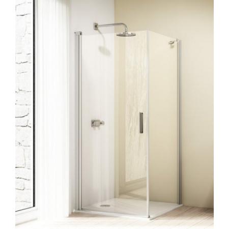 Huppe Design Elegance Kabina prysznicowa - Drzwi skrzydłowe - 90/190 srebrny matowy Szkło przezroczyste Anti-Plaque 8E0602.087.322