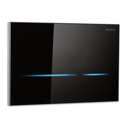 Geberit Sigma 80 Elektroniczny zestaw uruchamiający WC, szkło czarne 116.090.SG.1