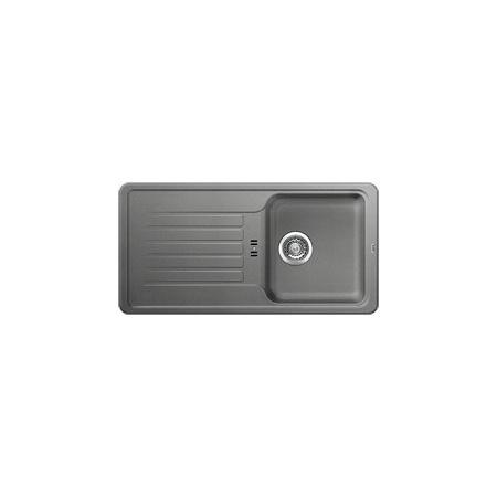 Blanco Favos Zlewozmywak granitowy Silgranit PuraDur jednokomorowy 86x43,5 cm z ociekaczem, alumetalik 516618