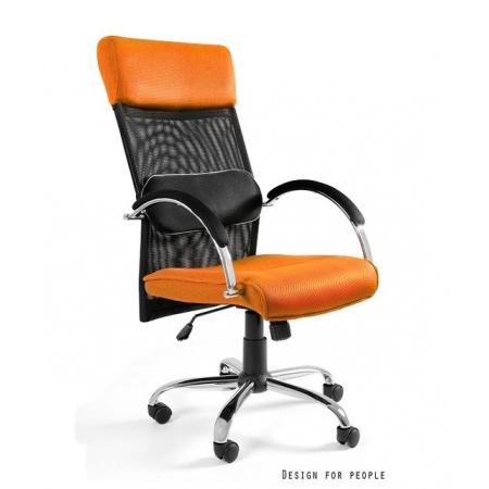 Unique Overcross Fotel biurowy, pomarańczowy W-62-5
