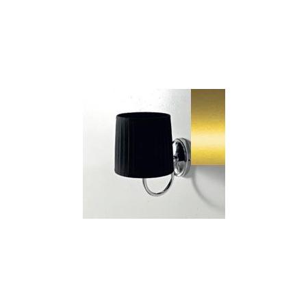 Art Ceram Victoria lampa ścienna z czarnym kloszem 18x26x24 cm, złota HEA038;73