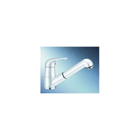 Blanco Vitis-S Silgranit-Look Bateria kuchenna z wyciąganą wylewką biała 515370