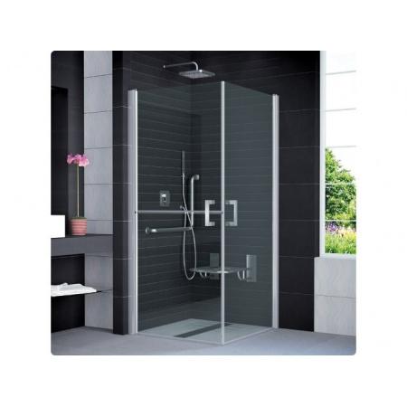Ronal Sanswiss Mobility Kabina prysznicowa narożna z drzwiami trzyczęściowymi 90x195 cm drzwi prawe, profile połysk szkło przezroczyste SLM51D0905007