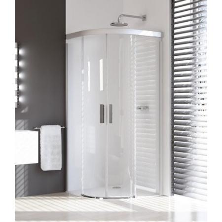 Huppe Design Pure Kabina prysznicowa, drzwi suwane - 80/80/190/50 biały Szkło Sand Plus 8P3001.055.315