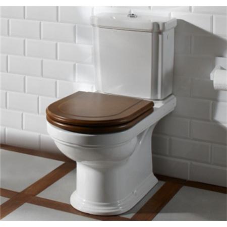 Villeroy & Boch Hommage Miska WC lejowa 37x60cm model wiszący Ceramicplus z deską wolnoopadającą sosnową, biała 6661B0R1+9926K600