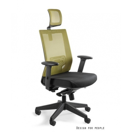Unique Nez Fotel biurowy, oliwkowy W-879K-MESH37