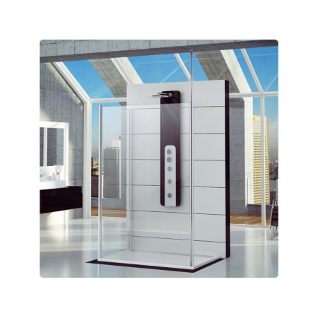Ronal Fun Ścianka prysznicowa dodatkowa - 70 x 200cm Chrom Wzór krople (FUDT07005044)