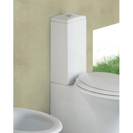 Hatria Sculture Zbiornik WC kompaktowy, podłączenie dolne, biały Y0FS