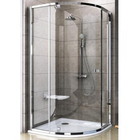 Ravak Pivot Kabina prysznicowa półokrągła PSKK3-90, satyna transparent 37677U00Z1