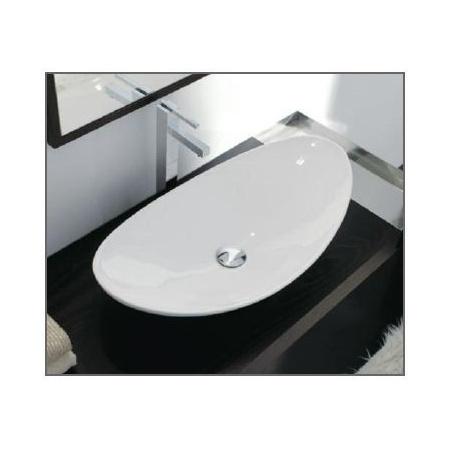 Scarabeo Zefiro Umywalka nablatowa 68x36x18 cm, biała 8206
