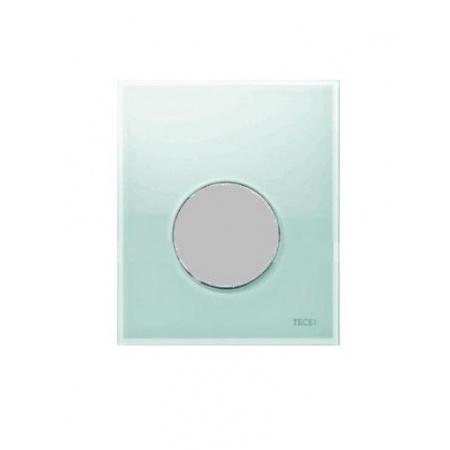 Tece Loop Przycisk spłukujący ze szkła do pisuaru - szkło zielone/przyciski stal szlachetna szczotkowana 9.240.662
