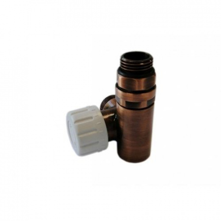 Schlosser zawór termostatyczny do grzałki prawy, antyczna miedź, ze złączką na Stal 6049 00027