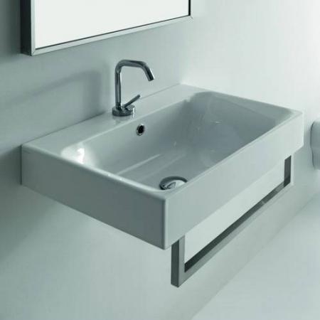 Kerasan Cento Reling do umywalki 41 cm, nikiel 911602