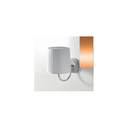 Art Ceram Versailes lampa ścienna z białym kloszem 18x26x24 cm, brązowa HEA025;72