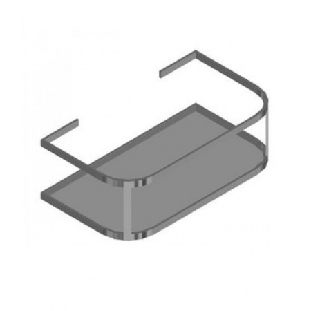 Hatria Daytime Reling podumywalkowy z półką bez nóg 48x86 cm, stalowy Y0PD