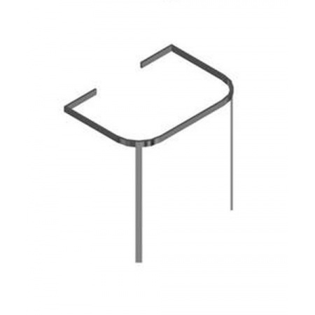 Hatria Daytime Reling podumywalkowy 48x70 cm, stalowy Y0P8