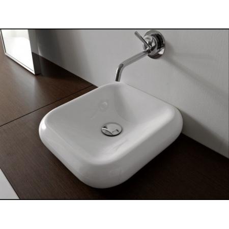 Kerasan Cento Umywalka wisząca lub nablatowa 40x41 cm, biała 3542