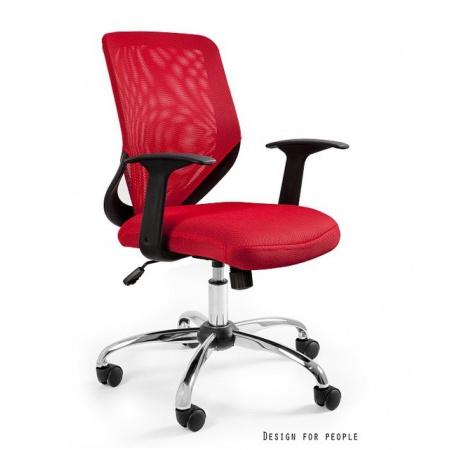 Unique Mobi Fotel biurowy, czerwony W-95-2